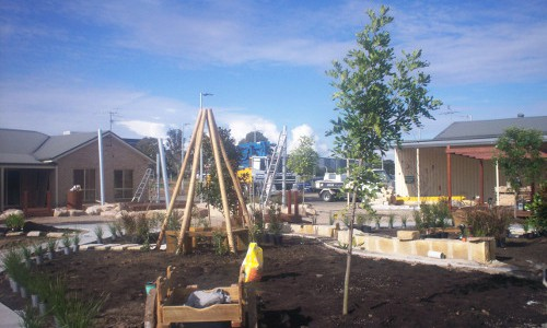 Further works on Playground 2-6 continued in the month of July.